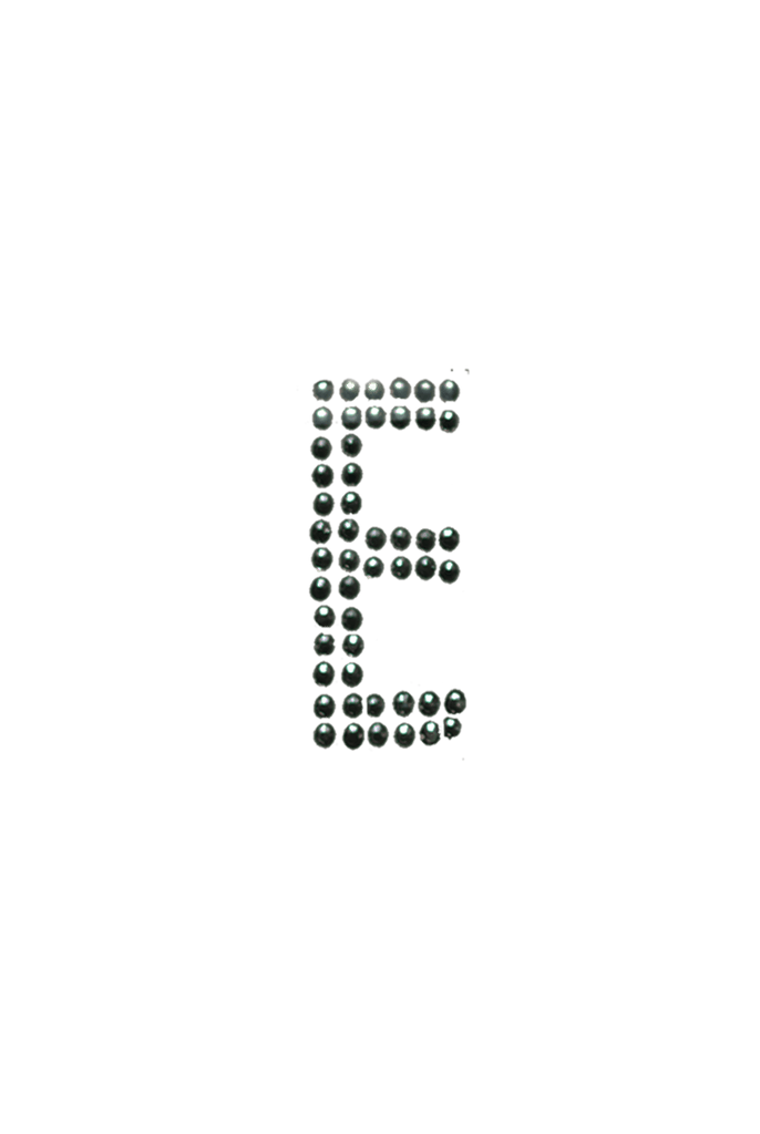 Clear Crystal Block Letter  - E