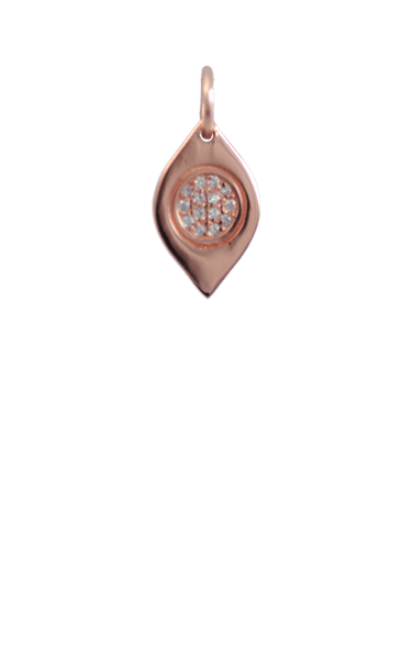 Crystal Rose Gold Charm - Evil Eye