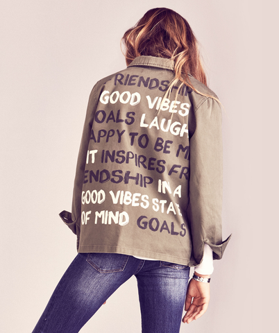 Good Vibes Military Word Jacket