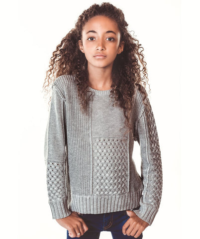 Mixed Stich Sweater - Grey