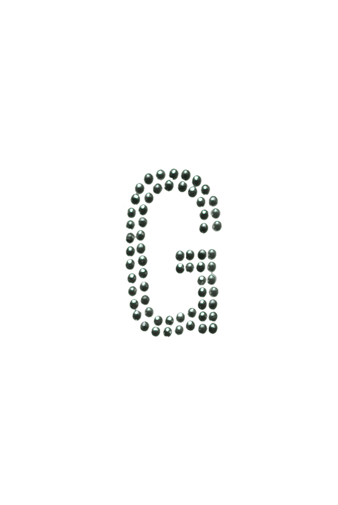 Clear Crystal Block Letter - G