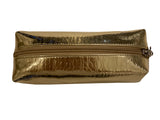 Metallic Cosmetic Case - Gold
