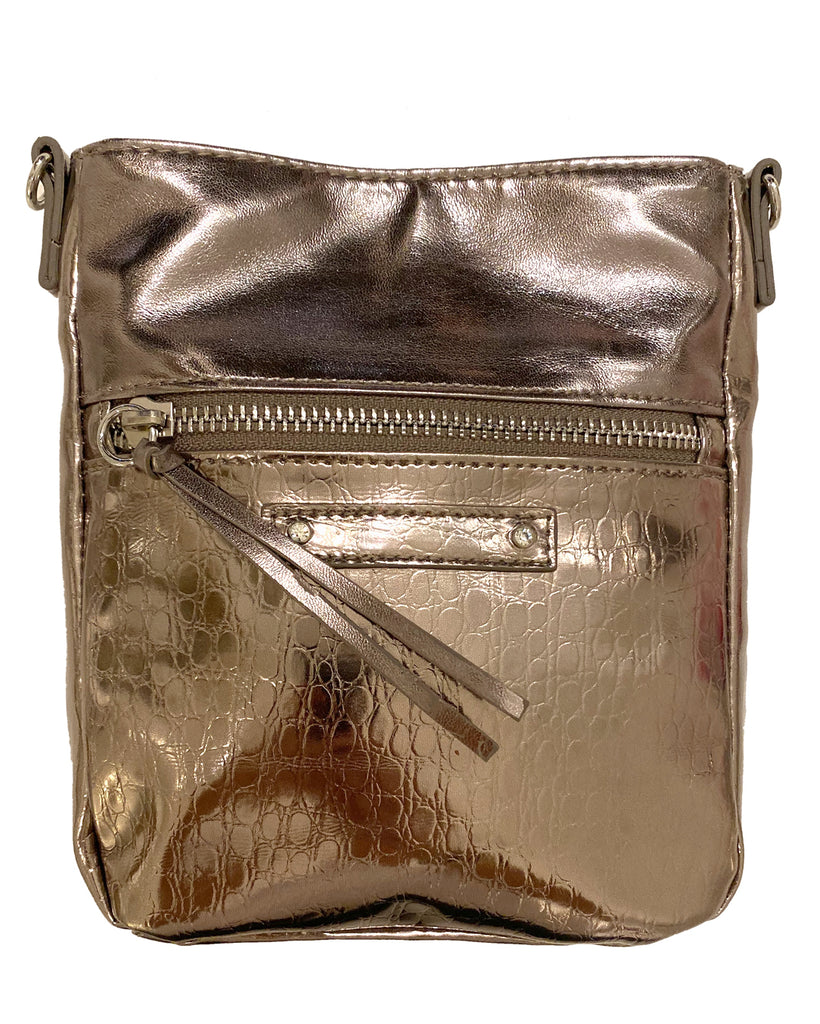 Metallic Crossbody - Pewter