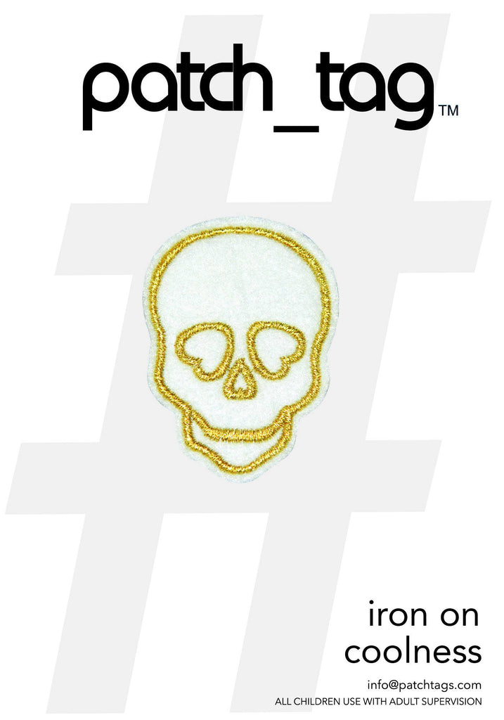 Skull Iron On patch_tag From me.n.u
