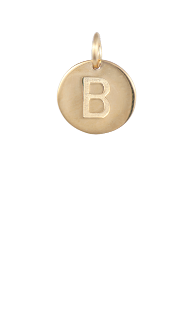 Tween Gift Ideas, Gold Disc Letter B Charm