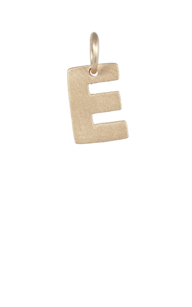 Tween Gift Ideas, Gold Block Letter - E
