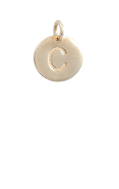 Tween Gift Ideas, Gold Disc Letter C Charm