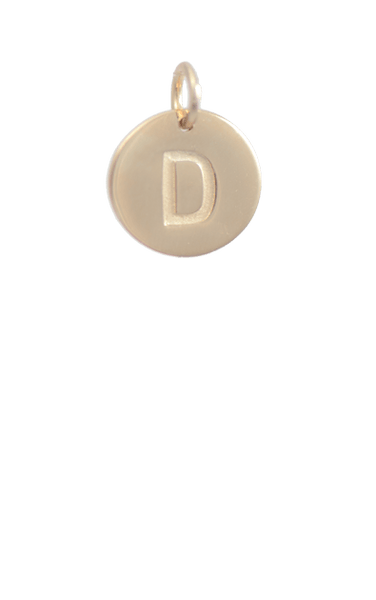 Tween Gift Ideas, Gold Disc Letter D Charm
