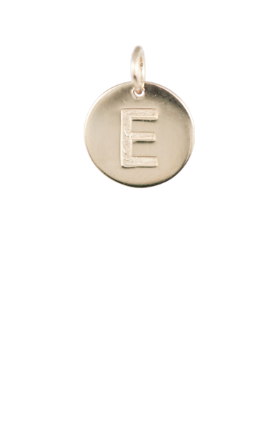 Tween Gift Ideas, Gold Disc Letter E Charm