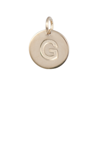 Teen Gift Ideas, Gold Disc Letter B Charm