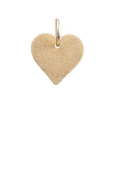 Heart Gold Charm, 14k gold plated