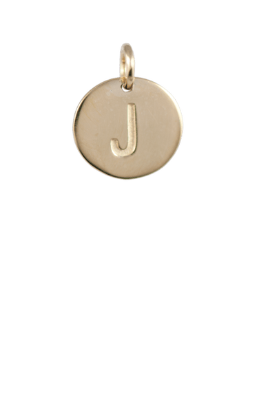 Teen Gift Ideas, Gold Disc Letter J Charm