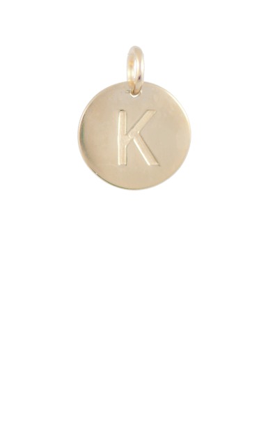 Teen Gift Ideas, Gold Disc Letter K Charm