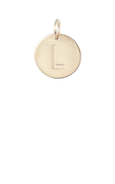 Best Tween Gift Ideas, Gold Disc Letter L Charm