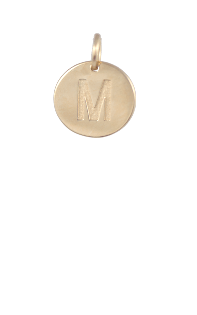 Best Tween Gift Ideas, Gold Disc Letter M Charm