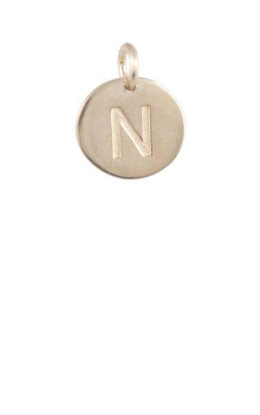 Best Tween Gift Ideas, Gold Disc Letter N Charm