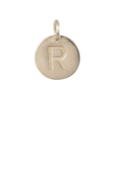 Best Tween Gift Ideas, Gold Disc Letter R Charm
