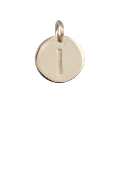 Teen Gift Ideas, Gold Disc Letter I Charm