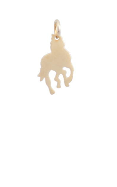 Horse Gold Charm, 14k gold plated