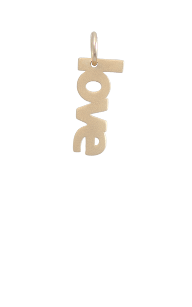 Love Gold Charm, 14k gold plated, Gift Ideas For Tweens