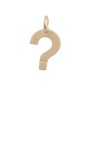 Question Mark Gold Charm, Gift Ideas for Cool Kids