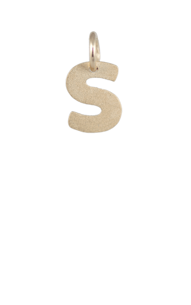 Girls Charms, Gold Block Letter S