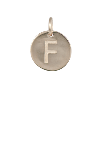 Tween Gift Ideas, Gold Disc Letter F Charm