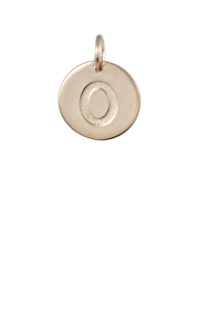Best Tween Gift Ideas, Gold Disc Letter O Charm