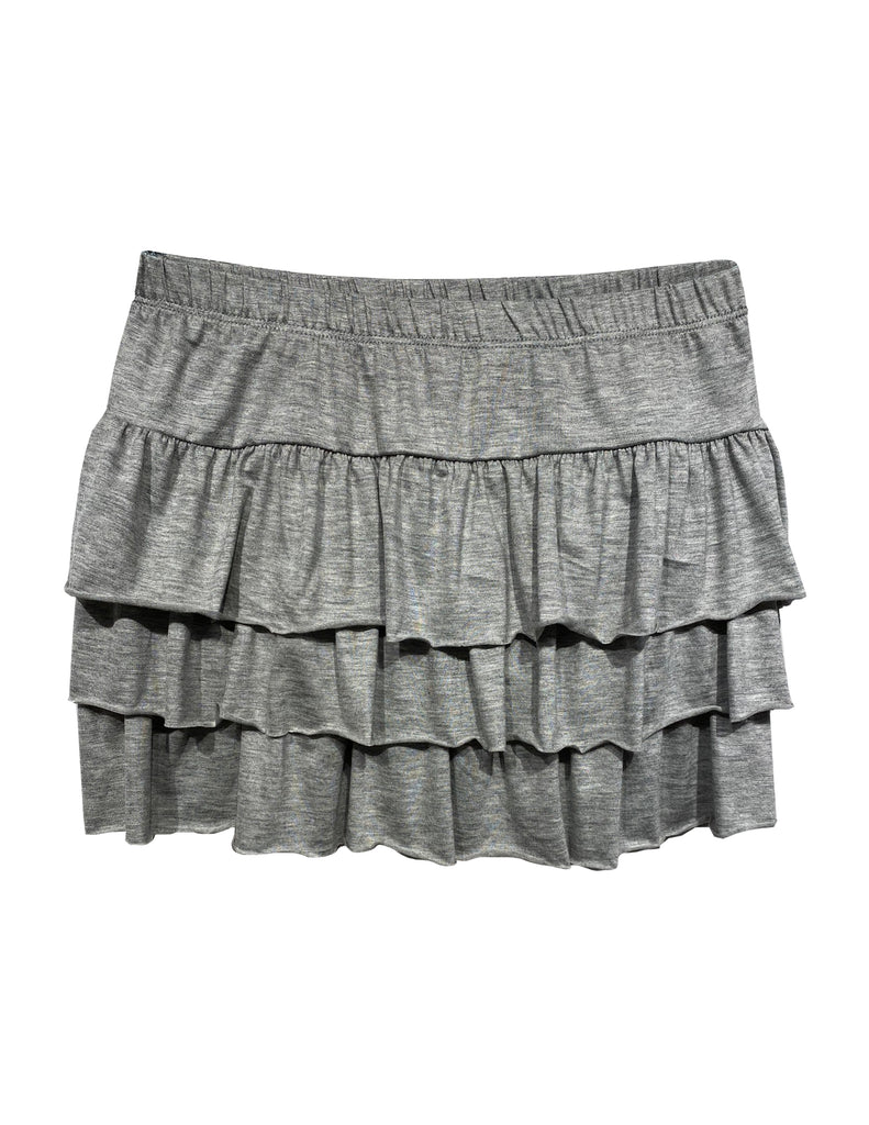Triple Tiered Skirt- Grey