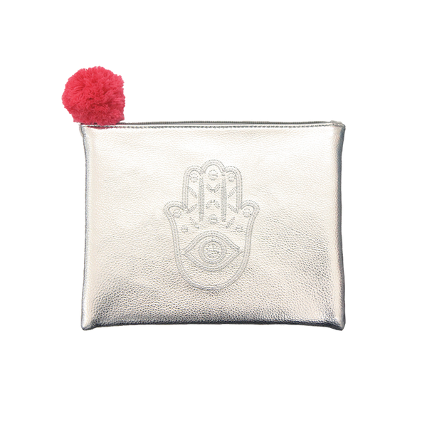 Embroidered  Pouch- Hamsa