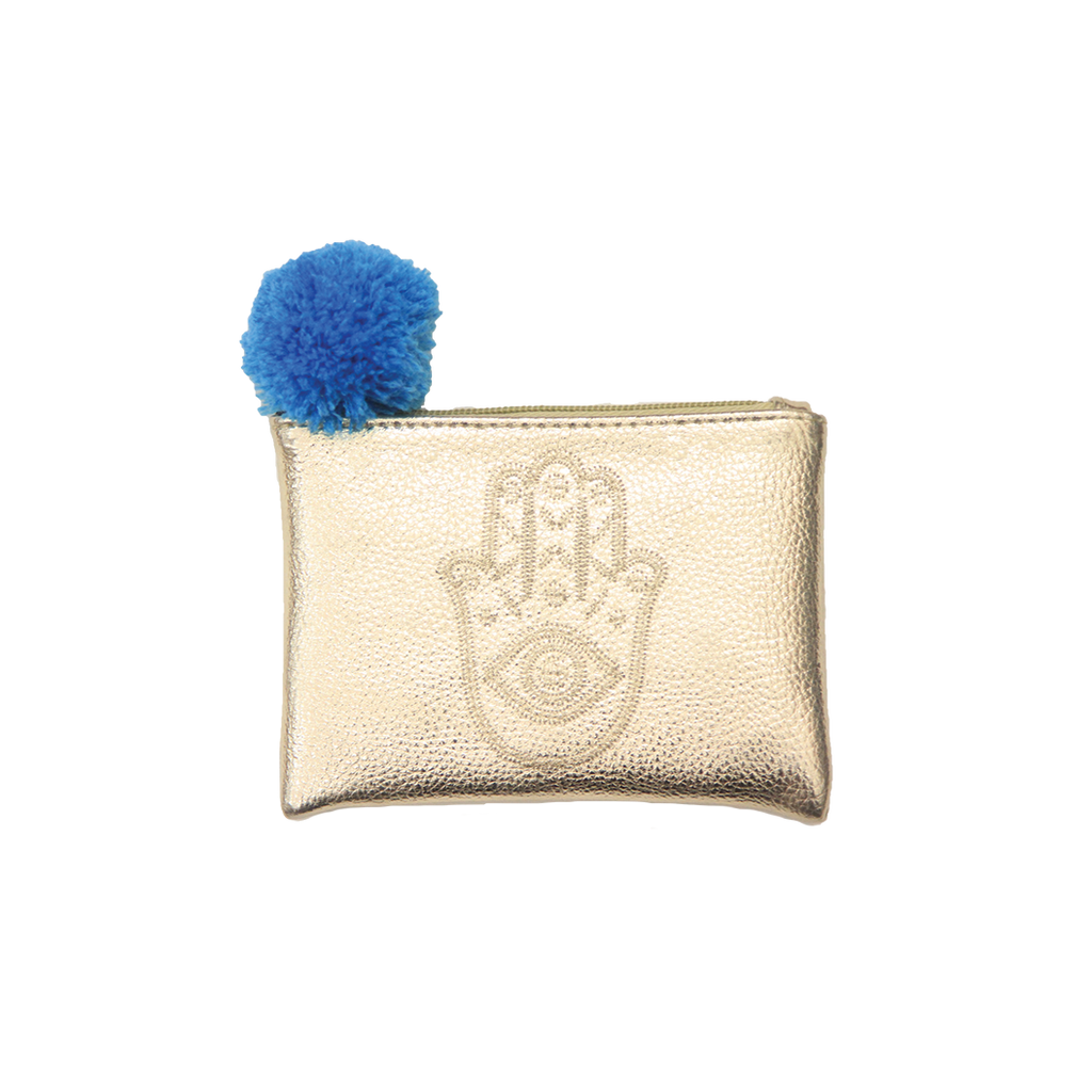 Mini Embroidered Hamsa Pouch