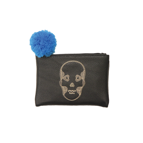 Mini Embroidered Pouch - Skull