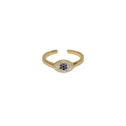 Evil Eye Ring - Gold