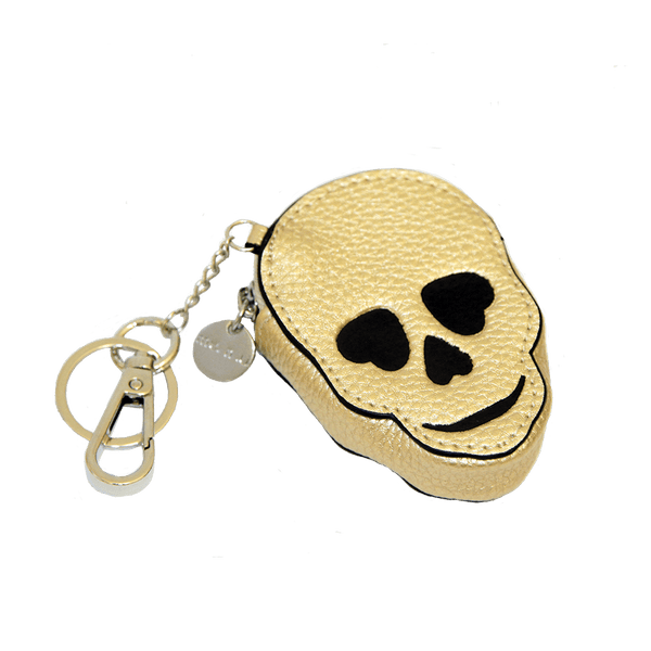 Leather Skull Keychain With Zip Pouch From me.n.u