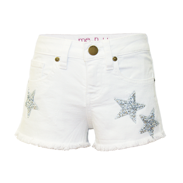 Crystal Star Denim Shorts