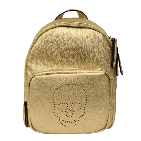 Skull Backpack, Gold