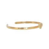 me.n.u Single Heart Bracelet - Gold
