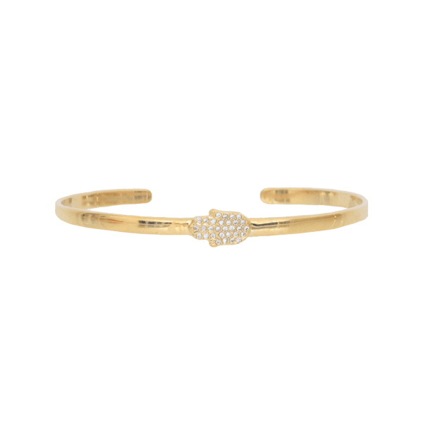 me.n.u Single Hamsa Bracelet - Gold