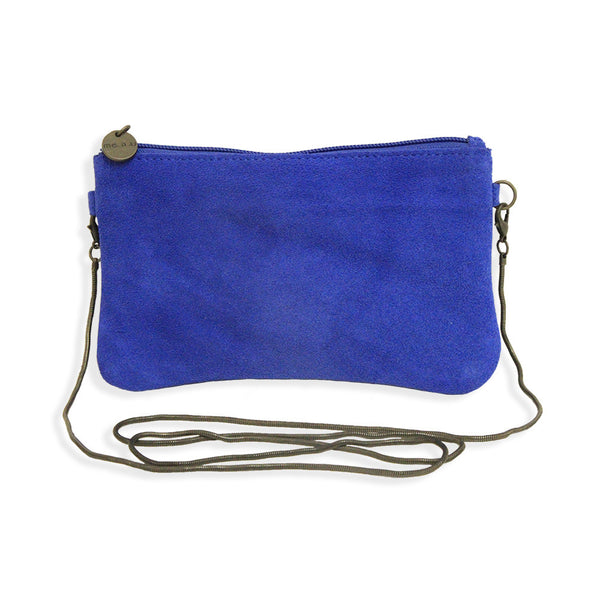 Suede Crossbody Bag in Blue