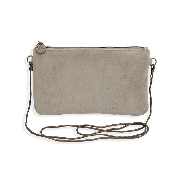 Suede Crossbody Bag in Grey