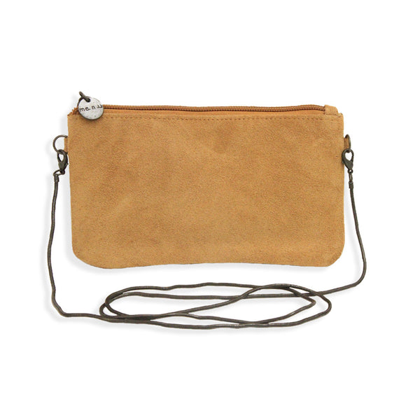 Suede Crossbody Bag in Saddle