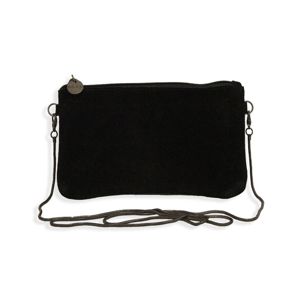 Suede Crossbody Bag in Black