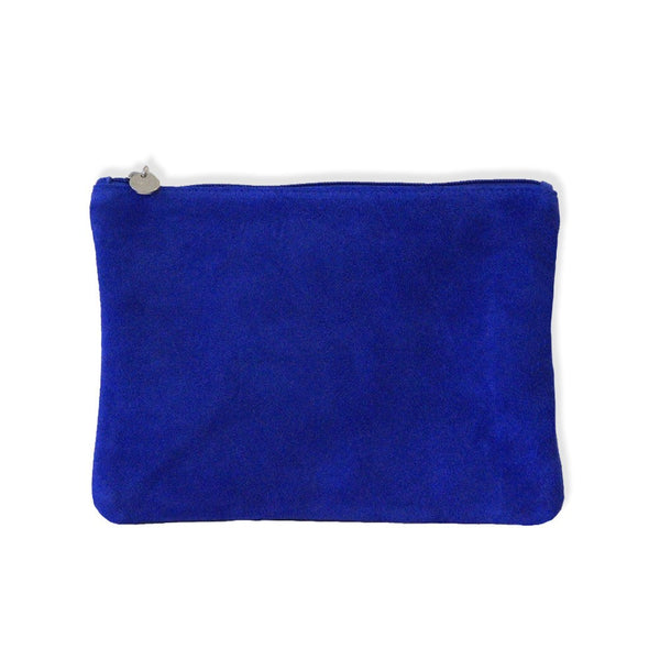 Suede Clutch - Blue