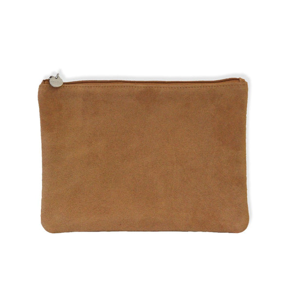 Suede Clutch - Brown