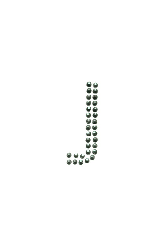 Clear Crystal Block Letter - J
