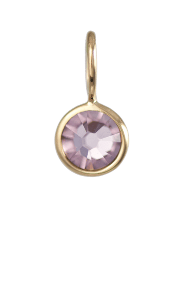 June Birthstone Gold Charm