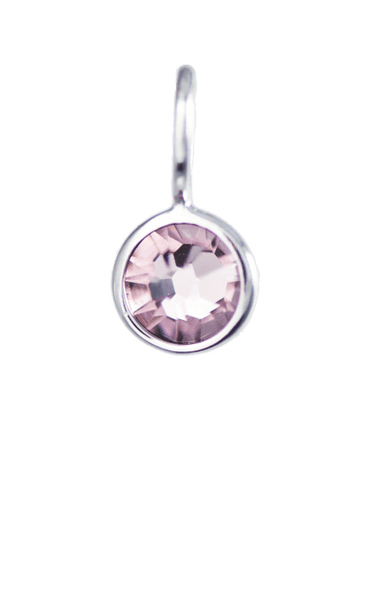 June Birthstone Silver Charm