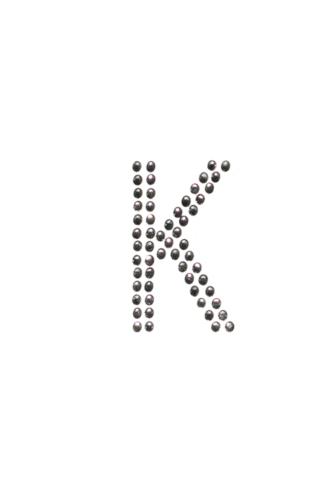 clear crystal block letter k