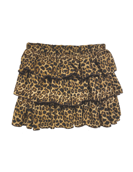 Triple Tiered Skirt - Leopard