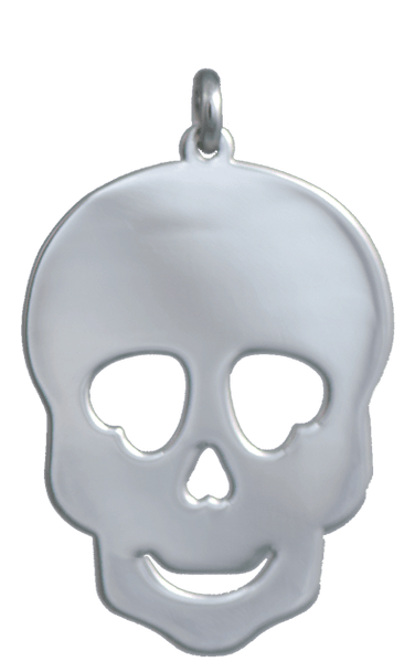 Large Silver Skull Charm